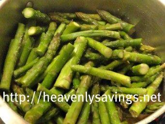 White Wine Garlic Asparagus!