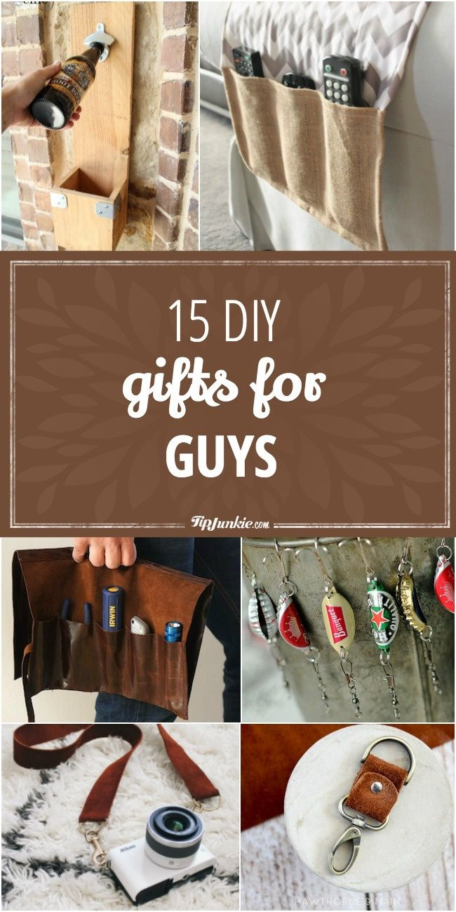 15 Diy Gifts For Guys With Images Diy Christmas Gifts For Men