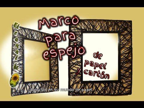 Marco para espejo de papel y cart n mirror frame for for Marcos de espejos
