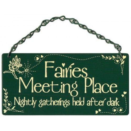 Fairies Meeting Place Home Garden Sign From Sarah J Home Decor