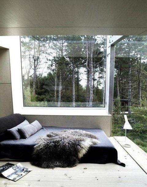 Throw rugs and windows #bedroom #schlafzimmer #bett #bed #window - schlafzimmer mit ausblick ideen bilder