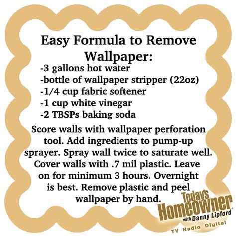 Easy Way To Remove Wallpaper Peels Off By Hand If You Leave The Plastic On Soak