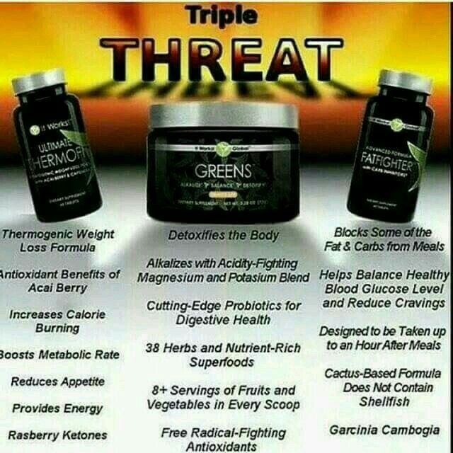 #triplethreat #itworks  123dance.myitworks.com  Thermofit, Greens and Fatfighter = Amazing results