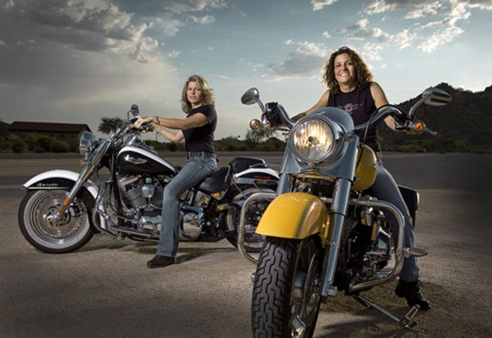 More And More Female Riders Devote Themselves To Biking Look At These Two Women Bikers They Are So Happy On Their Harleys They A Harley Davidson Harley Moto