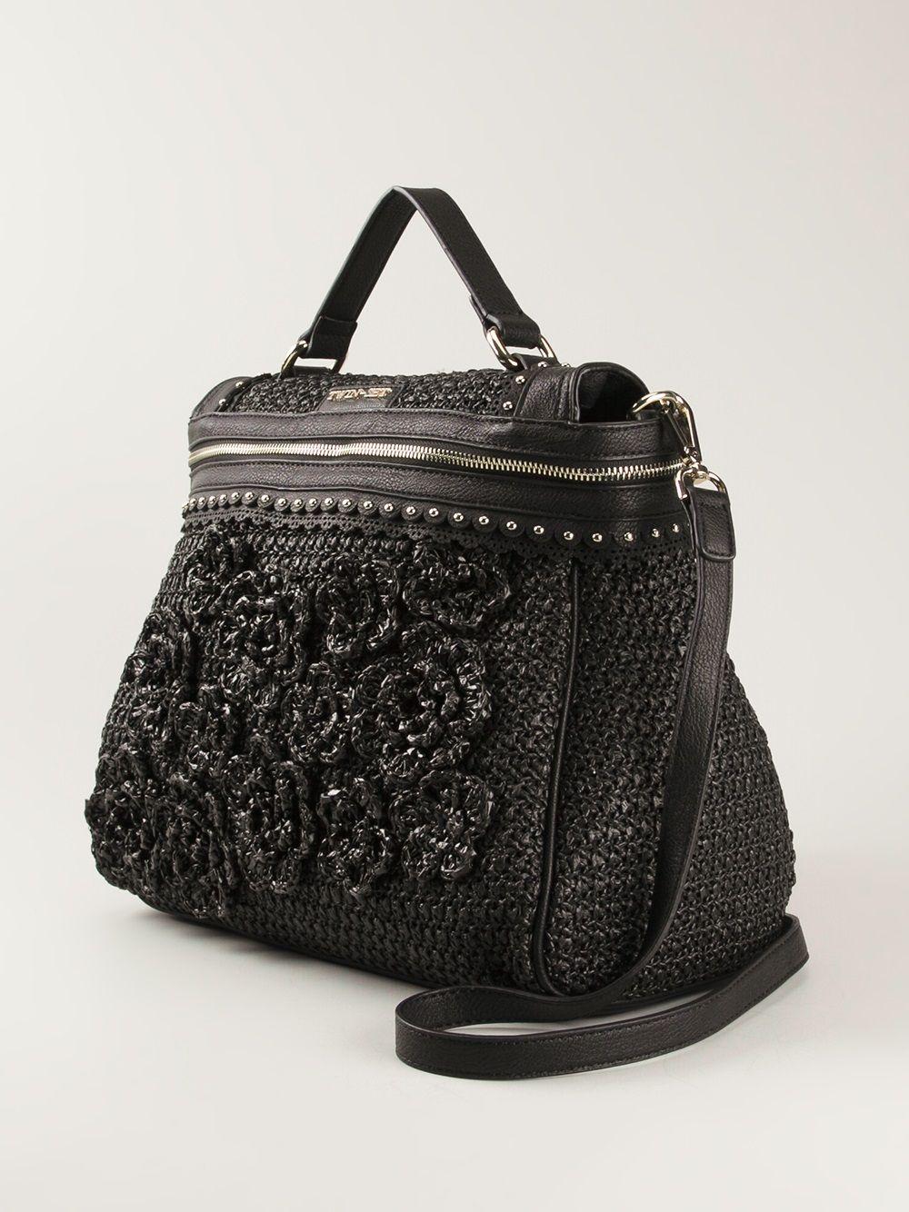 Twin Set Simona Barbieri Fl Crochet Tote Bag