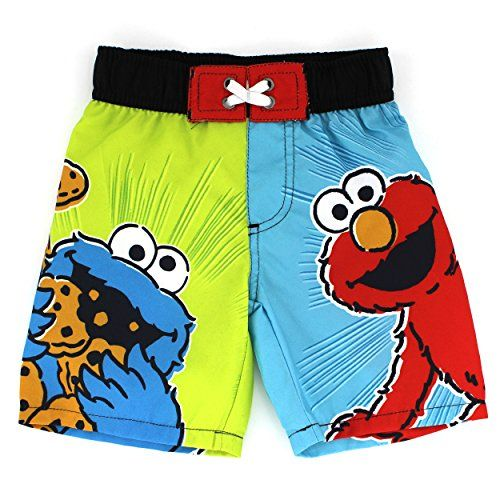 c7500f7e9f Elmo and Cookie Monster Infant Toddler Swim Trunks (3T) Sesame Street http:/