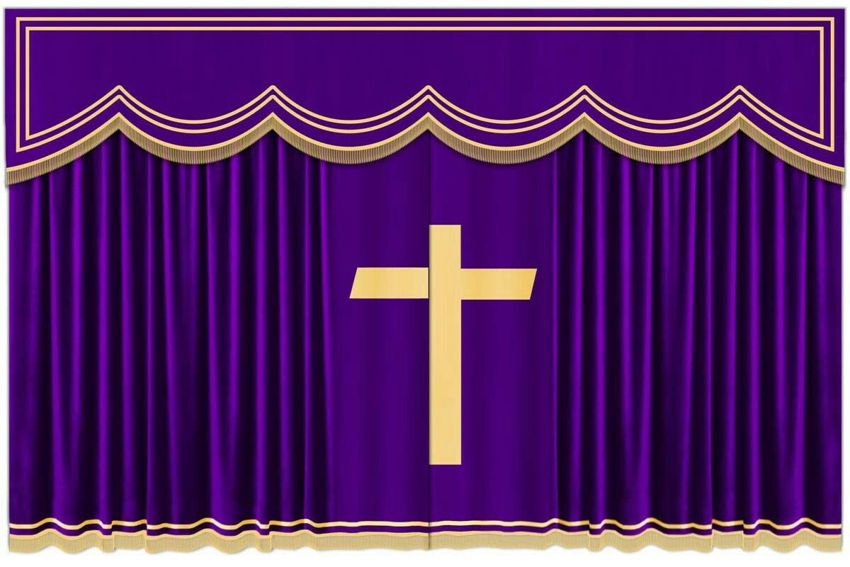 Attractive Purple Church Curtain #Velvet #Curtains Shop At: Www.curtainshopy.com