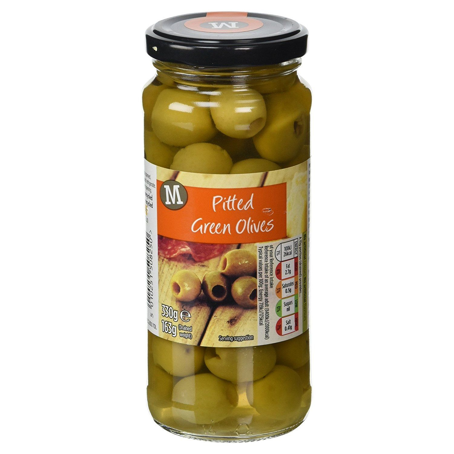 Morrisons Pitted Green Olives, 330g: Amazon.co.uk: Prime