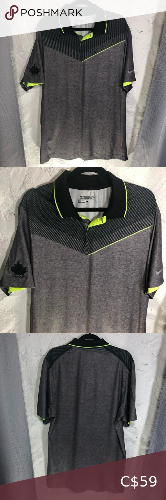 Nike Golf Polo Shirt Hockey Canada Logo in 2020