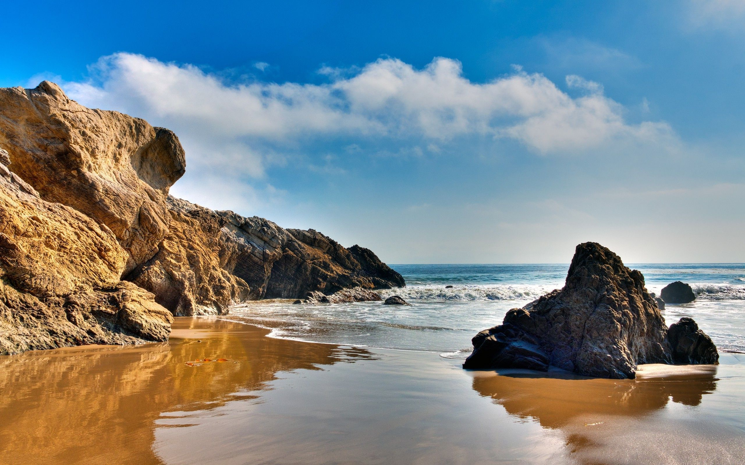 Rocks On Malibu Beach