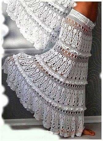Схемы ажурных вязанных юбок крючком