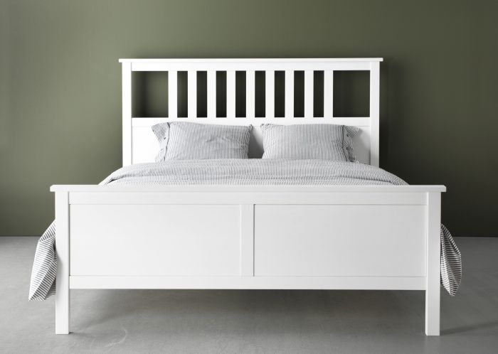 Hemnes Bed Frame White Stain Lur 246 Y Traditional Home