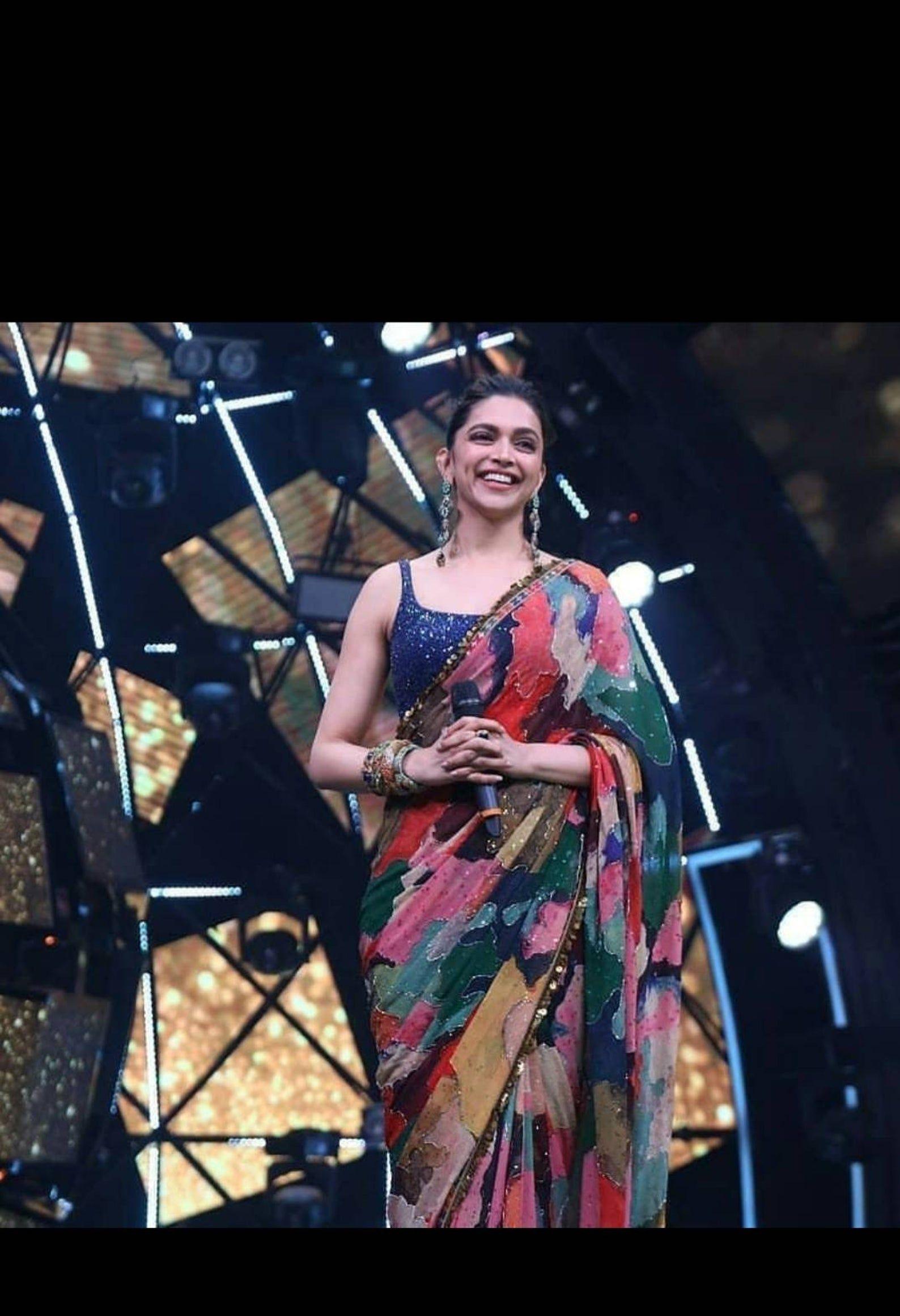 Designer deepika Bollywood saree with sequince blouse ...
