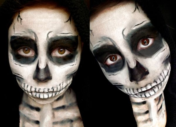 skeleton halloween makeup i wish i could figure out how to do this - Wish Halloween Costumes