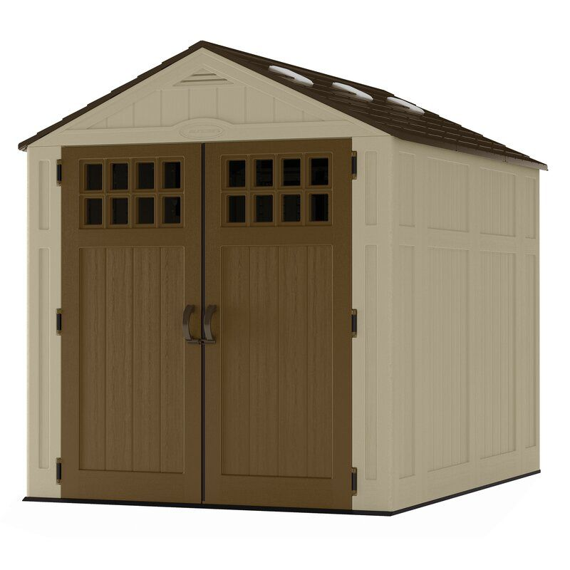 Suncast Outdoor Everett 6 Ft W X 8 Ft D Resin Plastic Storage Shed Reviews Wayfair In 2020 Wood Shed Plans Plastic Storage Sheds Shed Building Plans