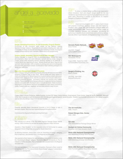 Resume Topics Resume  Graphic Design  Pinterest