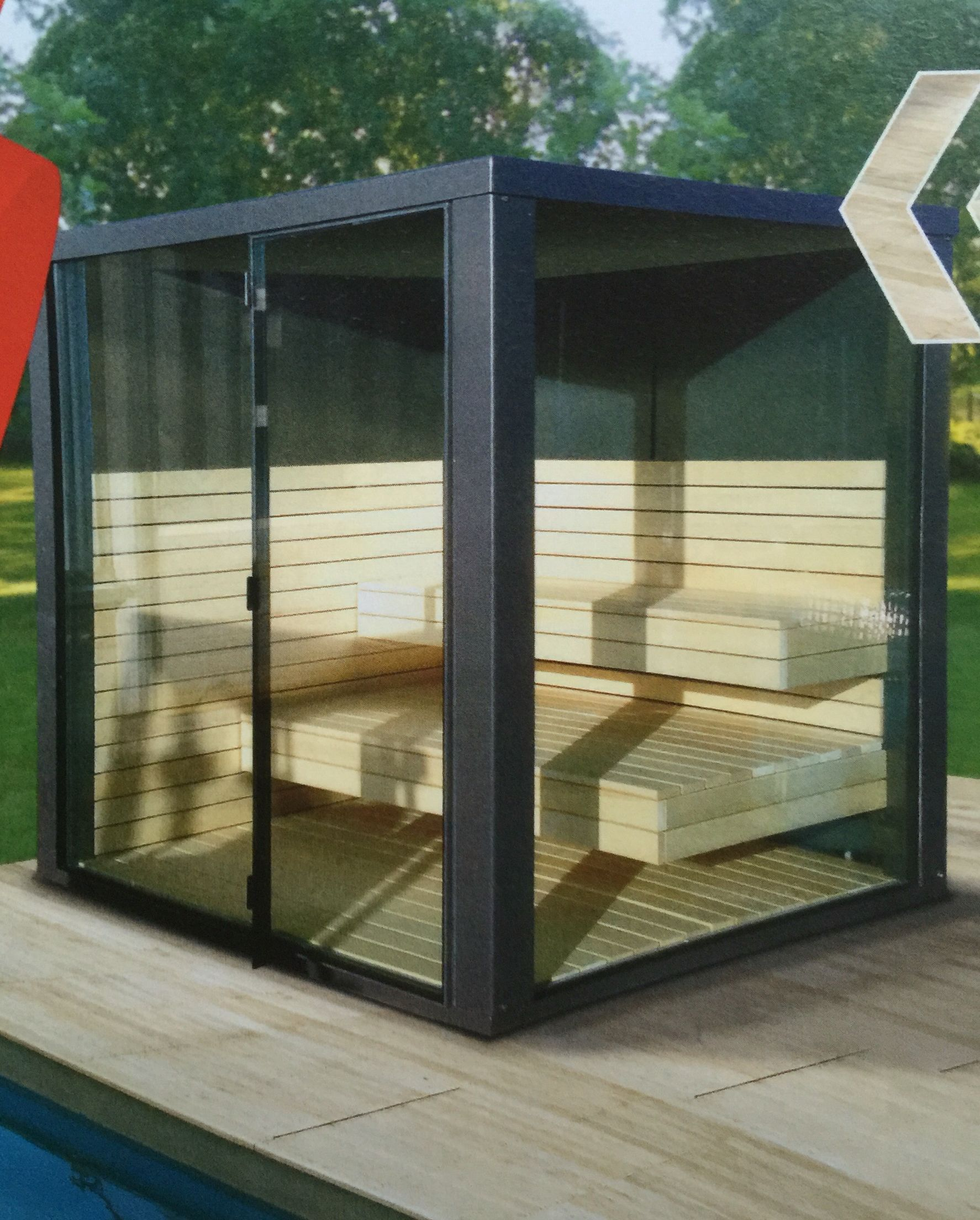 atlas naturstein sauna au en sauna pinterest aussensauna saunas und garten pool. Black Bedroom Furniture Sets. Home Design Ideas
