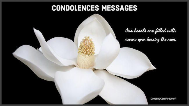Condolence Messages And Sincere Sympathy Sayings The Right Words