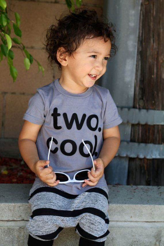 Toddler Baby Boy Girl Two Cool 2 Year Old Birthday Shirt