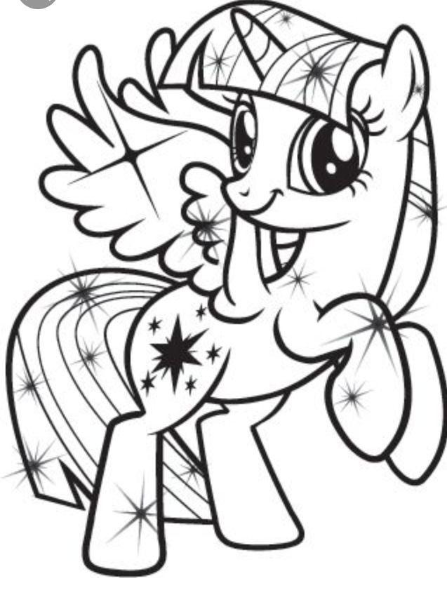 Twilight Sparkle Coloring Page Unicorn Coloring Pages My Little Pony Coloring My Little Pony Twilight