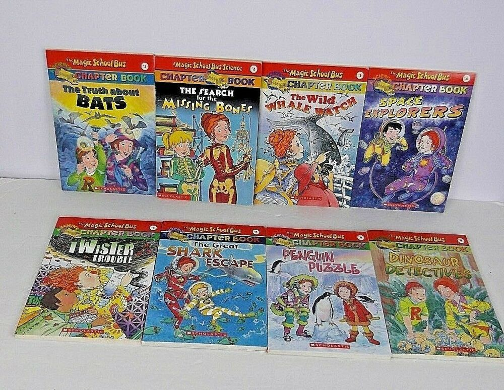 Lot of 8 magic school bus chapter books 15 79 1 2 3 4 5