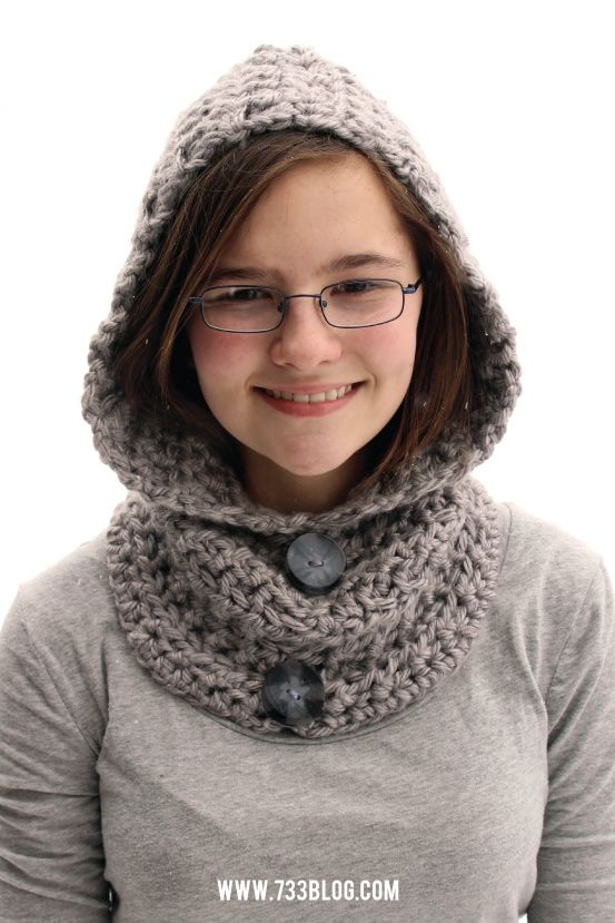 Hooded Cowl #projectcrochet | Schlupfmütze, Kopf und Winter