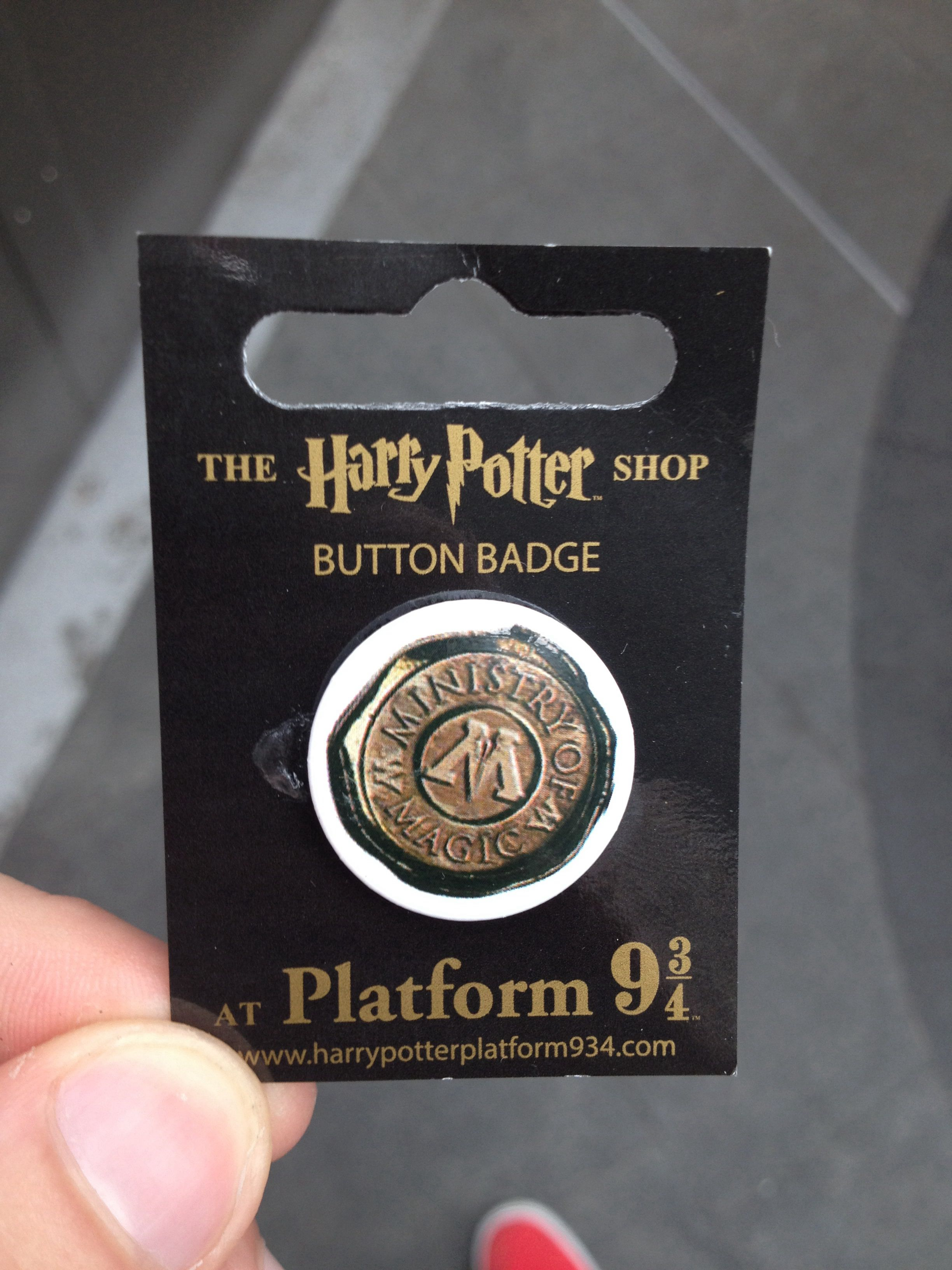 Ministry Of Magic Pin Badge From The Harry Potter Merchandise