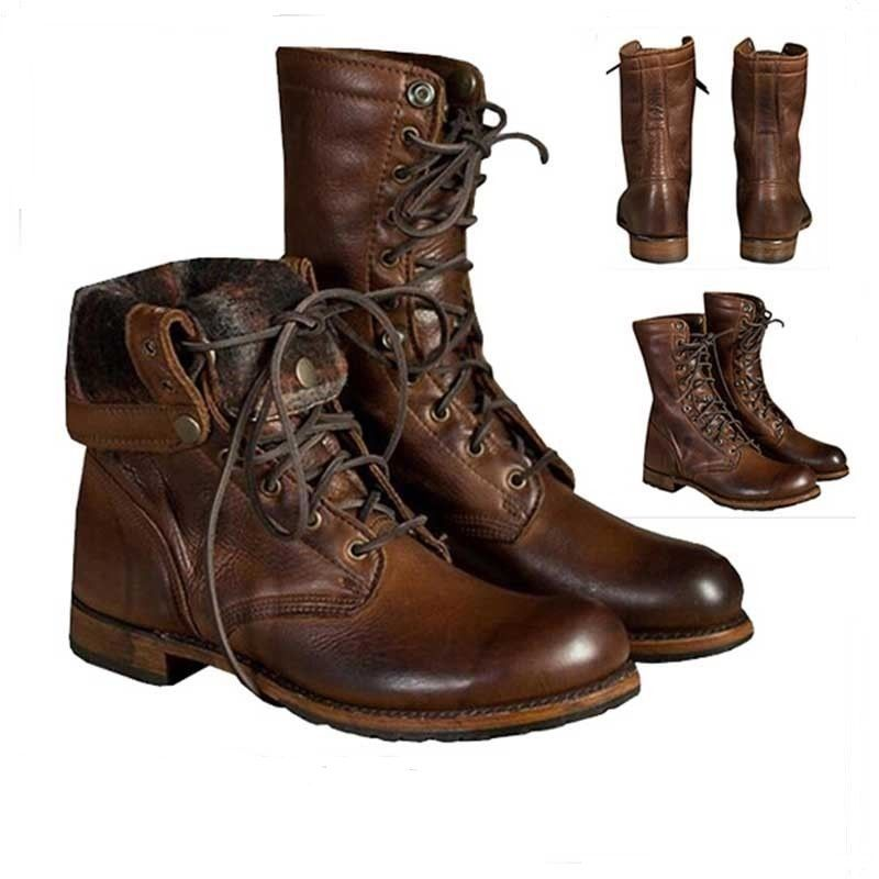 59f45ad871 Handmade men brown military boots men brown high ankle combat boots men  boots23
