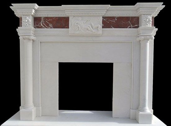 White Marble Ionic Columns Fireplace Imperial Barrington Columns Marble Fireplaces Fireplace Marble Fireplace Mantel Marble Fireplaces