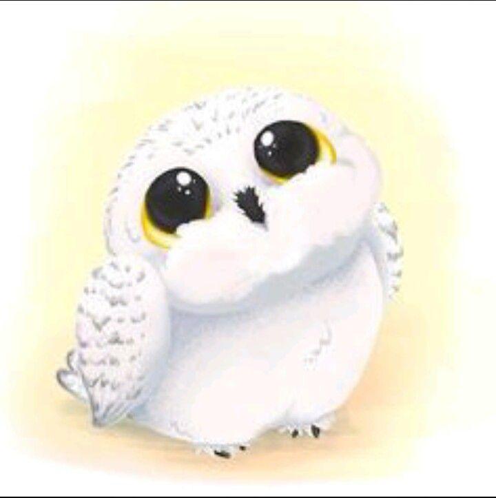 Credit To Artist Harry Potter Anime Hedwig Harry Potter Niedliche Tierzeichnungen