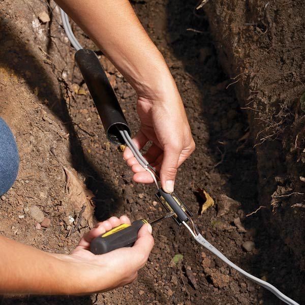 how to find a broken wire underground
