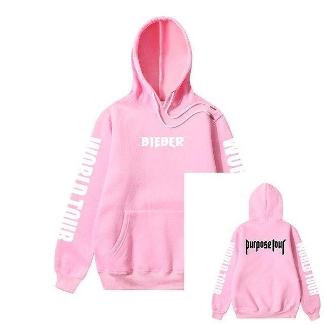 New Justin Bieber Unisex Men Sweatshirt Hoodie World Tour Casual Pullover Jacket