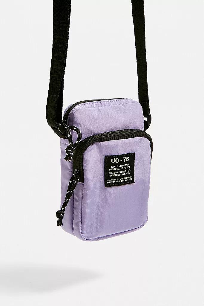 Small Hemp Bag Purple Festival Pouch Crossbody Purse Unisex Men/'s Women/'s Bag