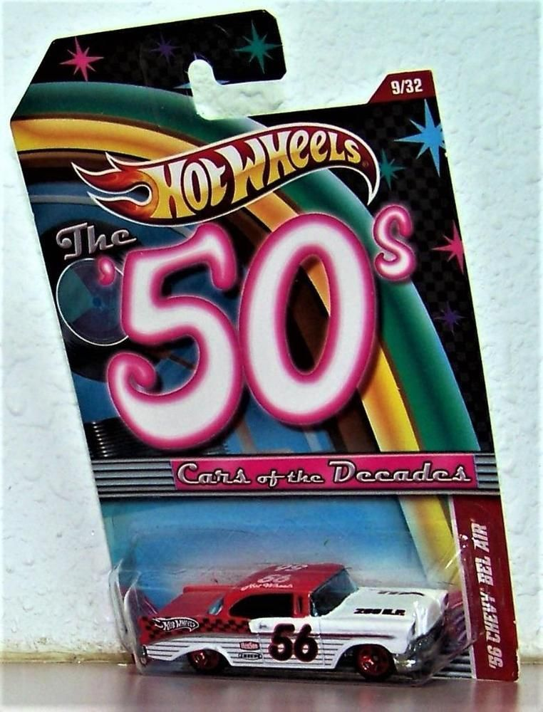 Hot Wheels The 50 S Cars Of The Decades 56 Chevy Bel Air 1956 Classic Hotwheels Chevrolet Hot Wheels Chevy Bel Air S Car