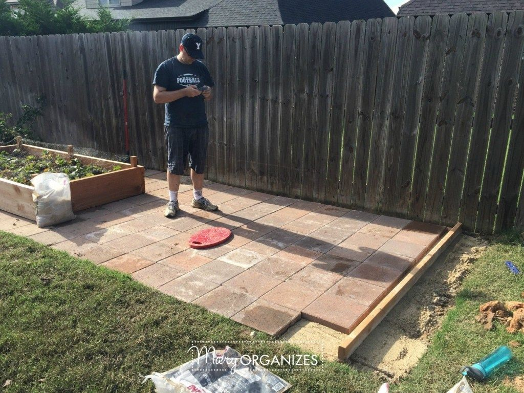 How To Install A Paver Patio {The Foundation of My Raised