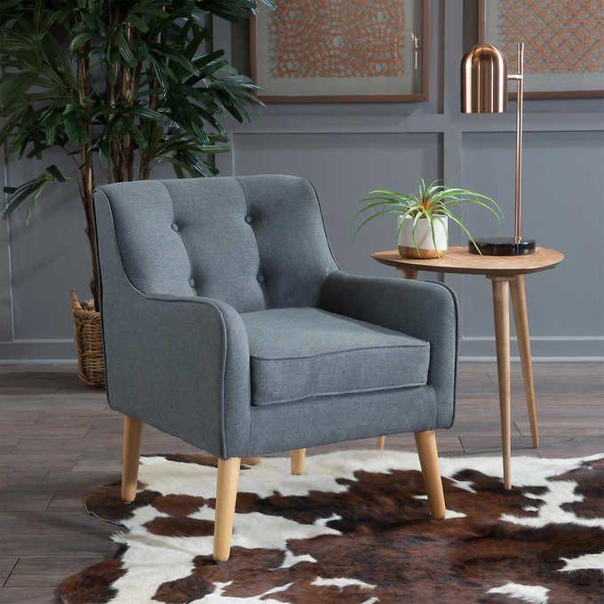 Stewart Tufted Fabric Chair Tufted Accent Chair Chair