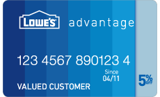 Lowe S Advantage Credit Card Standard Blue Credit Card First Credit Card Statement Credit Card Apply