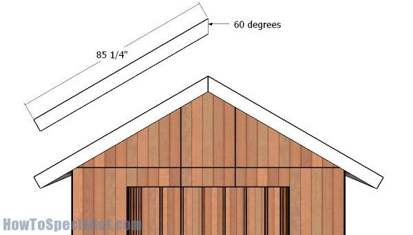 10x10 Gable Shed Roof Plans Howtospecialist How To Build Step By Step Diy Plans Shed Roof Roof Plan Shed