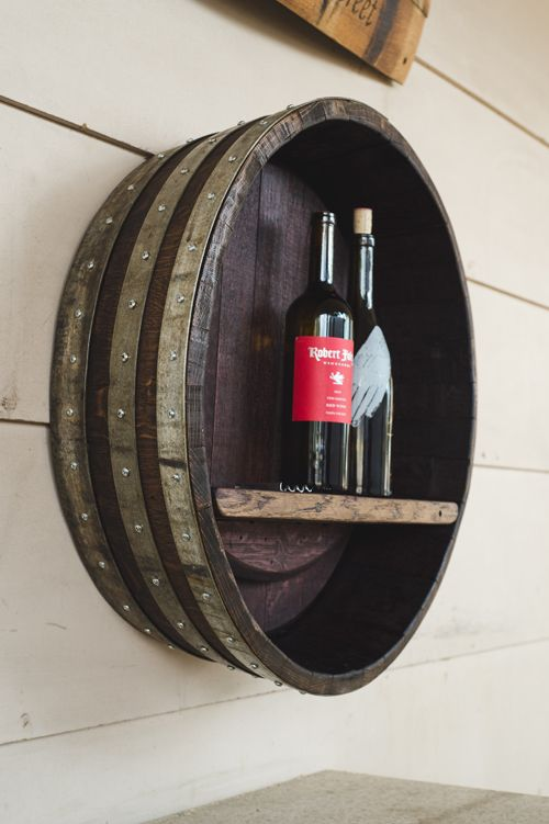 Wine Barrel Shelf Barrel Decor Wine Decor Wine Barrel Furniture
