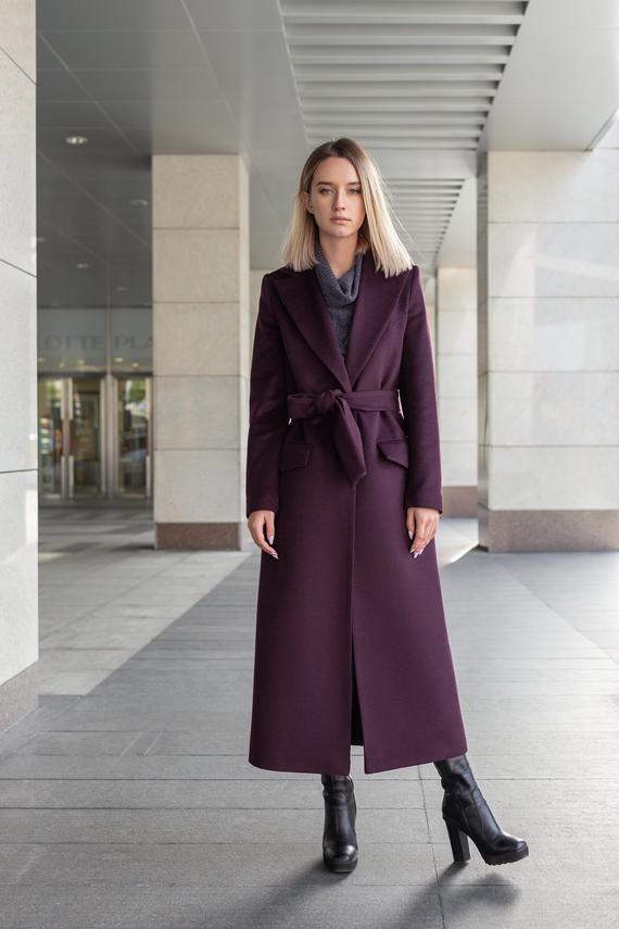 official supplier new photos hot-selling cheap Purple Coat Purple Wool CoatPurple Coat Women Spring Women ...