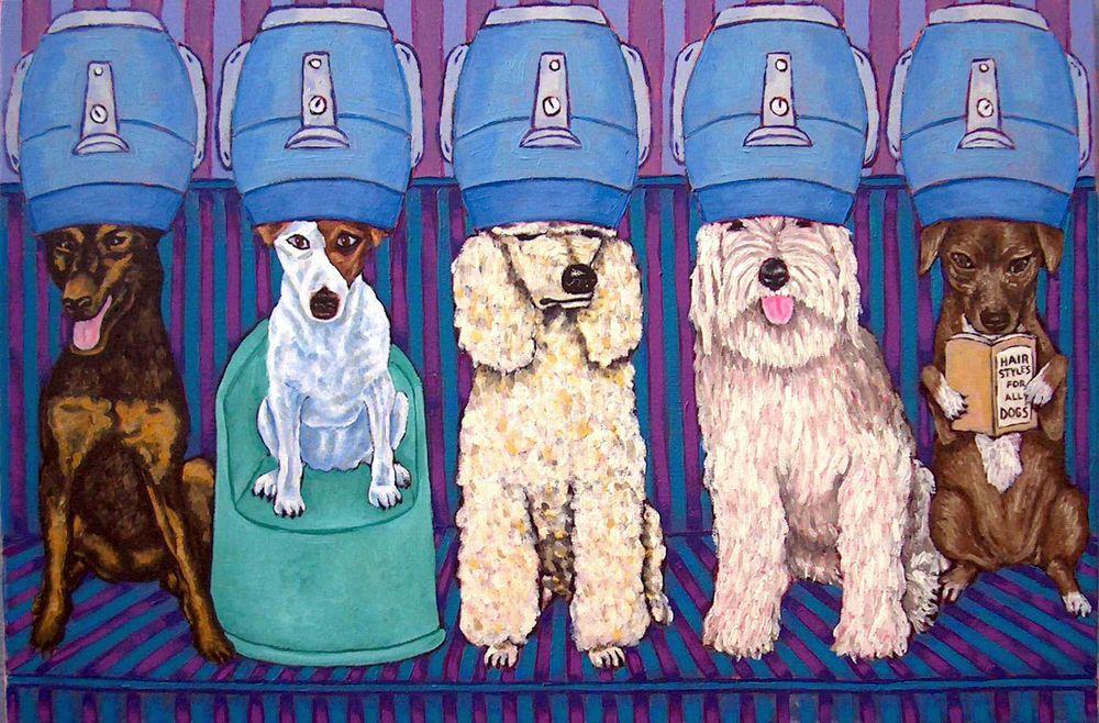 GORDON SETTER dog art PRINT poster gift modern 11x14 JSCHMETZ coffee with book