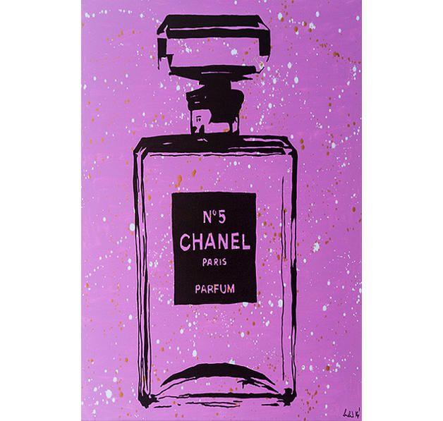 Chanel No 5 Flakon Poster Purple Urban Chic. Hier bei www.closeup.de