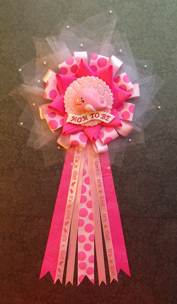 Ahoy Baby Girl Whale Corsage  Under the Sea by LezlieZDesigns, $25.00