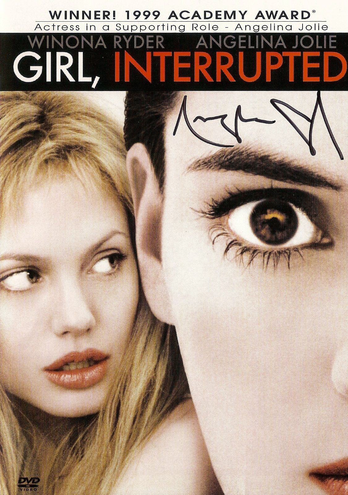 Details About Angelina Jolie Signed Girl Interrupted Cover Only No