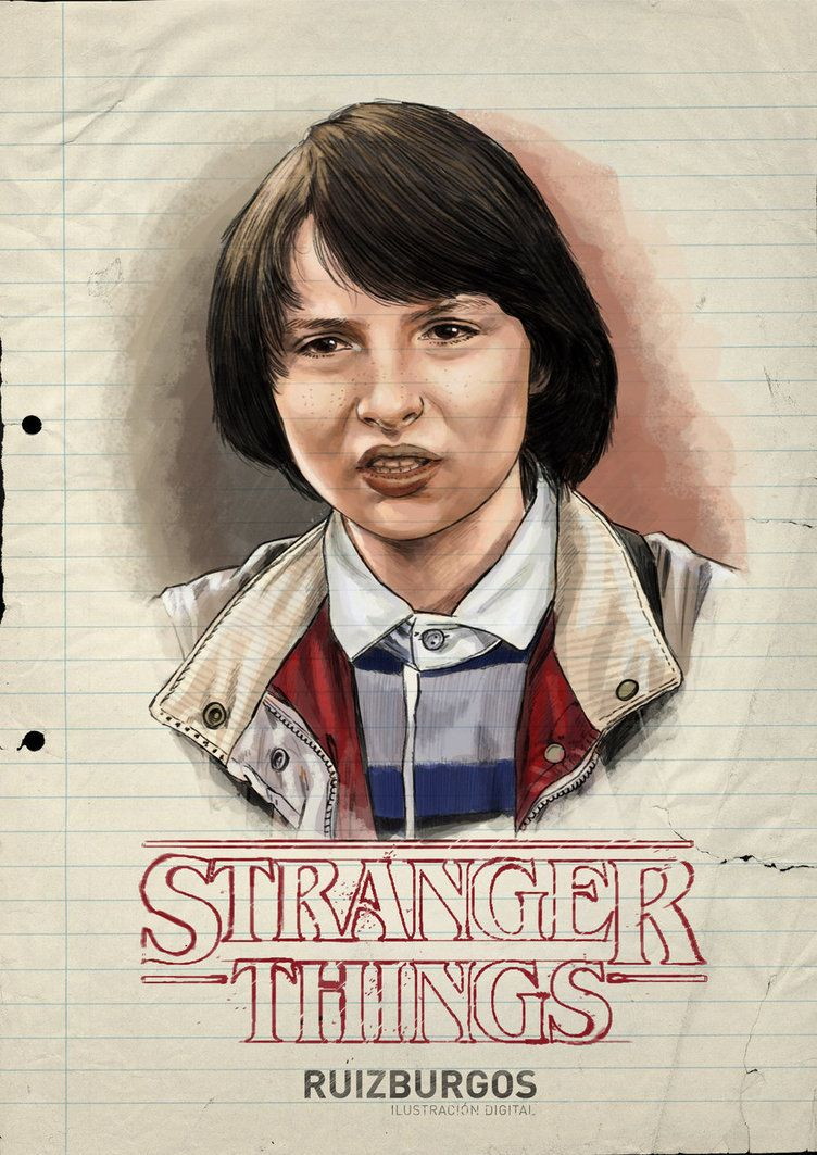 Wonderful Retro Stranger Things Character Portraits By Ruiz Burgos