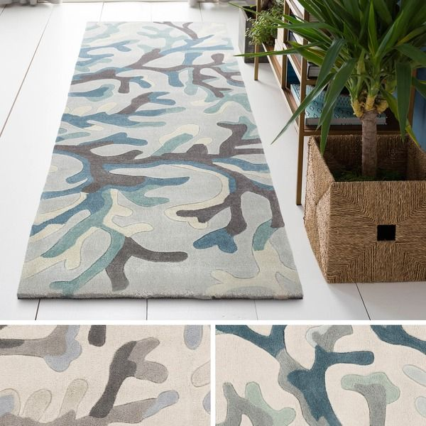 Hand Tufted Gion Polyester Rug (2'6 x 8')