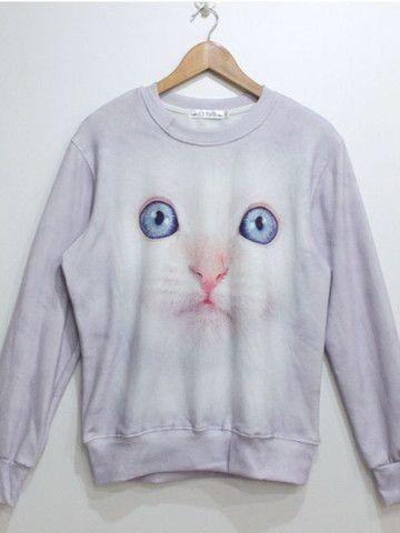 3D cat motifs sweatshirt $30 #asianicandy #indiefashion #asianfashion #koreanfashion #kawaii #japanese