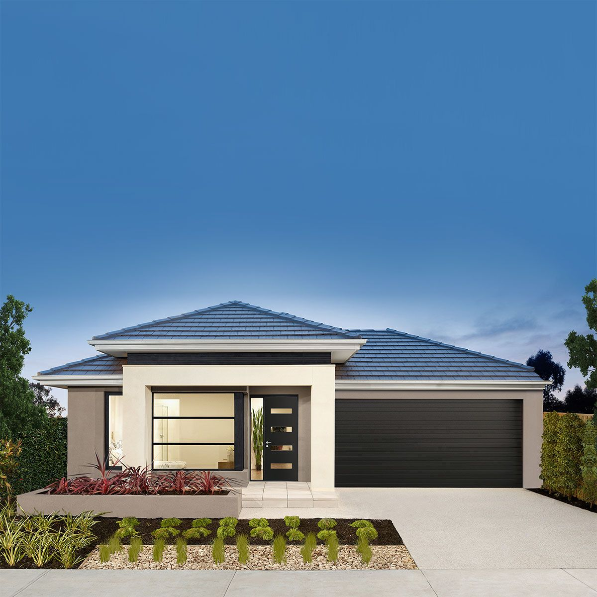 Airlie Single Storey Home Design With Viva Facade Airlie