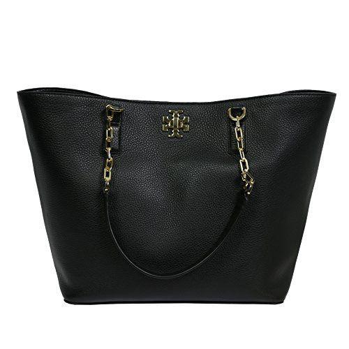 8942c108e43e Tory Burch Mercer Tote Leather Handbag TB Logo