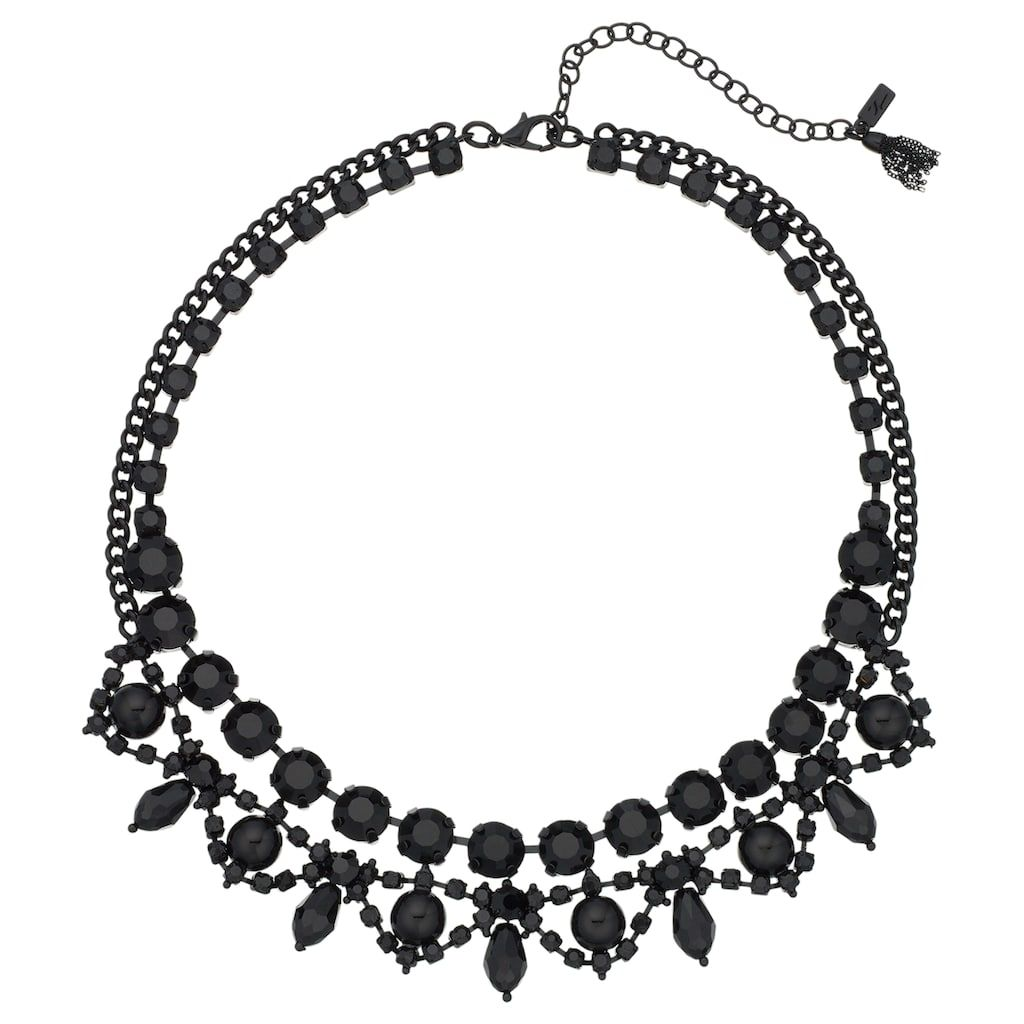 Vera wang simply vera black ornate collar necklace in